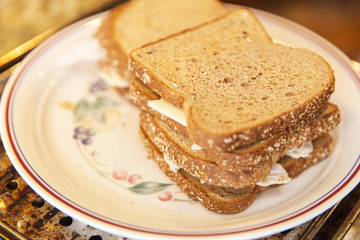 Chicken and Cheese Sandwiches, Whole Grain Bread