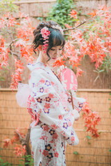 Asian woman in kimono portarit