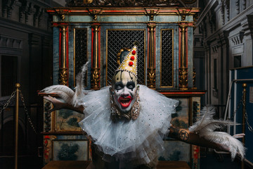 Grotesque clown