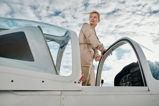 Jet pilot ready for flight