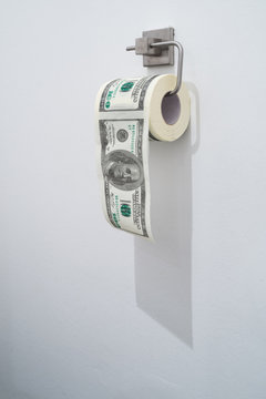 Dollar toilet paper roll