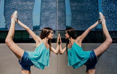 Professional ballerina in dancing pose