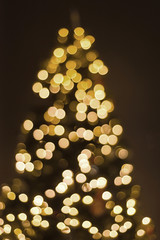 xmas lights blur