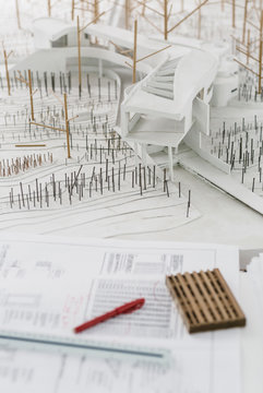 Architectural Model in Office