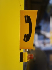Yellow box of emergency phone