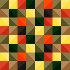 Bright pattern of colored squares