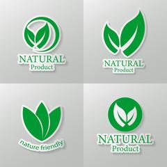 Set natural vector design.logo natural product