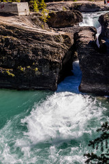 Natural bridge over the Kicking Horse River, Yoho National Park, British Columbia, Canada