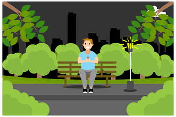 flat illustrations activities outside the home, vector illustration