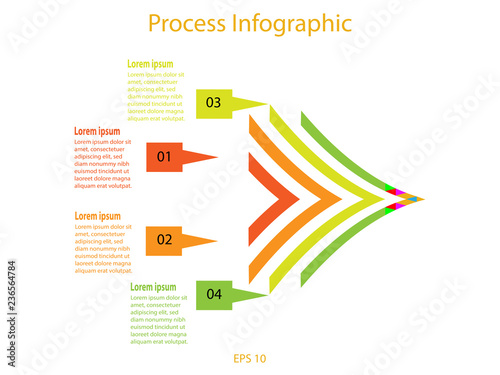 process infographic template stock image and royalty free vector