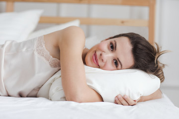 Portrait of Woman in Her Bed
