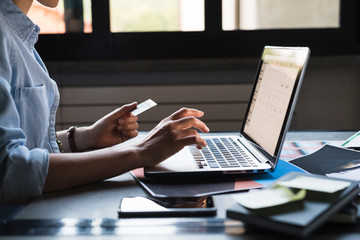 Using credit card for shopping online