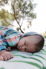 Baby Sleeping in Park