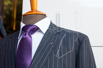 Male suit in the tailor's shop