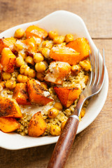 Moroccan Spiced Squash and Chickpeas