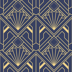 Abstract art deco seamless pattern 10