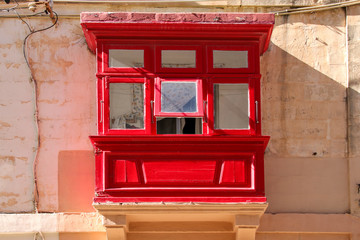 Vittoriosa, Three Cities, Malta, traditional balcony