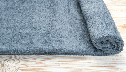 Gray hotel rolled towel texture or material close up