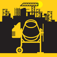 Concrete mixer, Construction power machinery