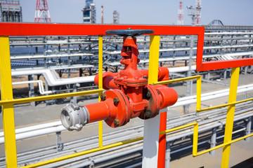 Fire Crane at an Oil Refinery
