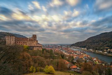 Heidelberger Schloss am Abend