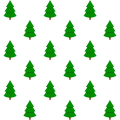 Holiday background seamless, xmas green tree