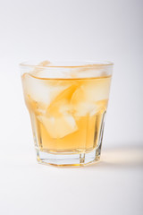 Alcohol cocktail drink on a white background