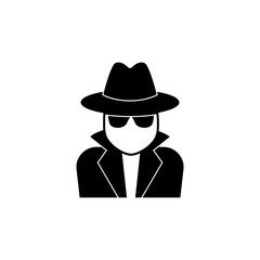 Spy, detective icon suitable for info graphics, websites and print media and interfaces. Line vector icon.