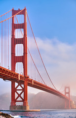Fotobehang Amerikaanse Plekken Golden Gate Bridge at morning, San Francisco, California