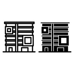 Apartment house line and glyph icon. Buildings vector illustration isolated on white. Dwelling home outline style design, designed for web and app. Eps 10.