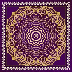 Traditional ornamental floral mandala pattern. For design of carpet, shawl, pillow, cushion. Vector illustration