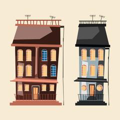 building set vector illustration
