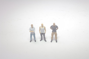 a mini figure of strong men on board