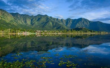Landscape of Dal Lake in Srinagar, India
