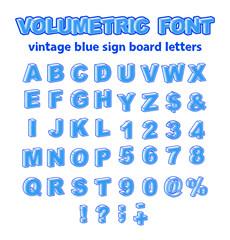 Isometric or Volumetric Vintage Alphabet Font Vector Illustration.