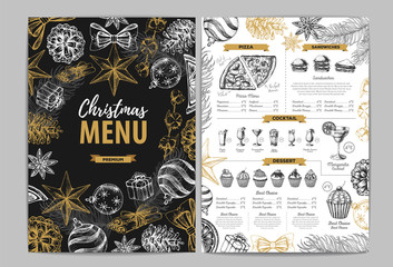 Restaurant Christmas holiday menu design