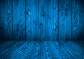 texture of blue boards. blue background. wooden blue background. Wood texture. Blue wood wall and floor