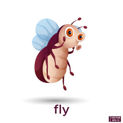 cartoon character fly.