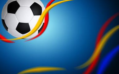 Soccer ball on blue
