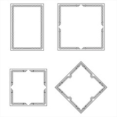 set frame, decorative ornamental frame