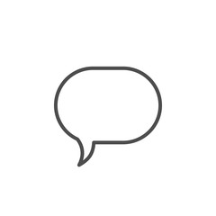 Speech bubble line icon