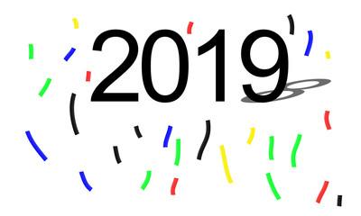 2019 confetti