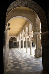 Historic buildings and monuments of Seville, Spain. the Palace of the Alcazar
