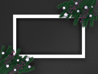 Frames for congratulations with branches and stars