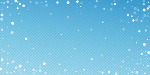 White dots Christmas background. Subtle flying sno