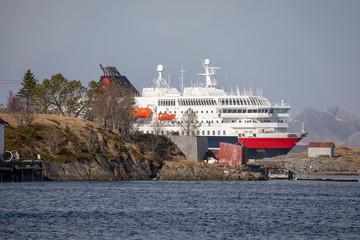 Coastship arrives at port