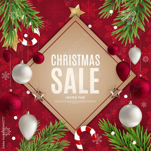 Christmas And New Year Sale Gift Voucher Discount Coupon Template