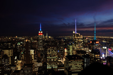 New York/ Manhattan Skyline from Rockefeller Center