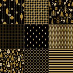 Christmas seamless pattern set