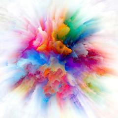 Paradigm of Colorful Paint Splash Explosion